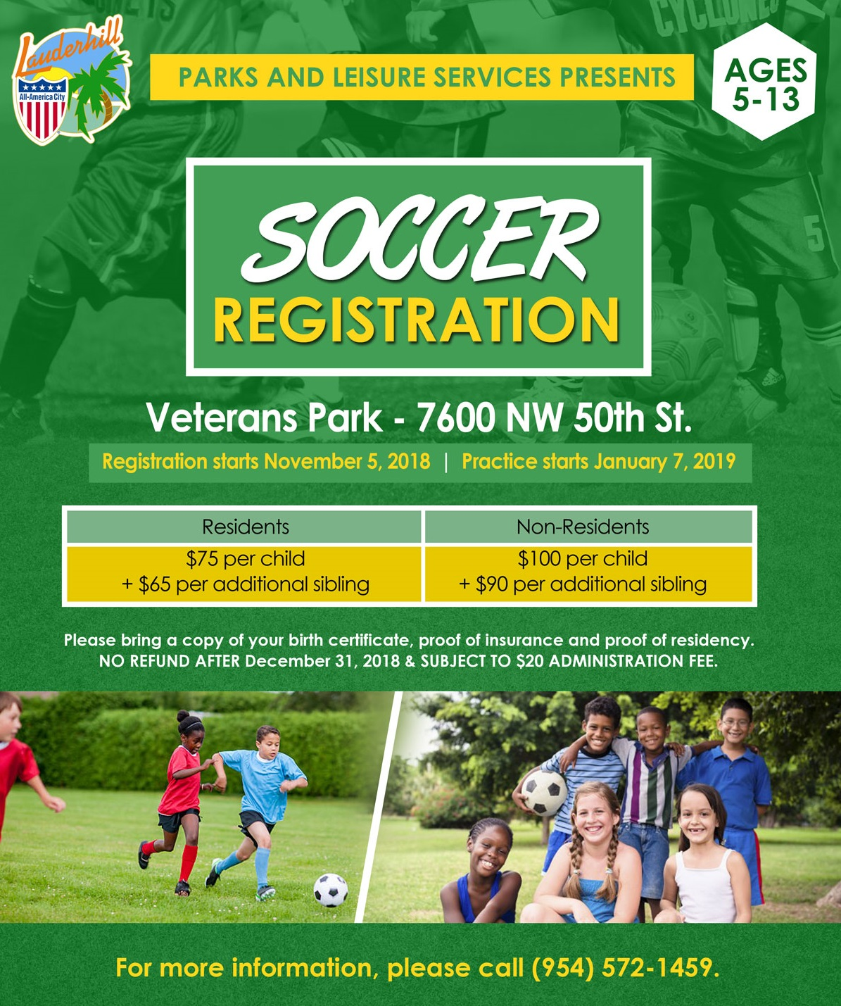 2016-17 Youth Soccer Recreation Registration Flyer