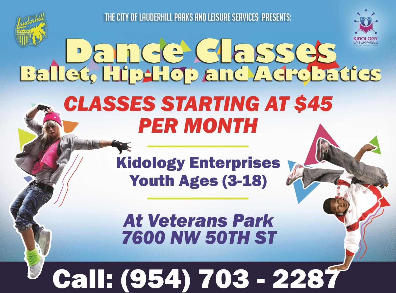 Veterans Park - Kidology Dance Ballet Hip Hop Classes Flyer
