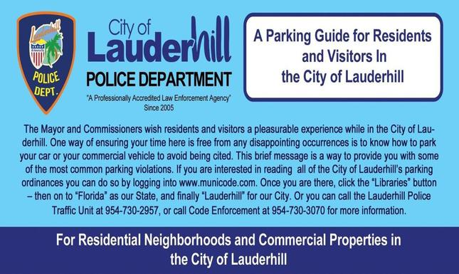 Lauderhill Parking Guide Web Slideshow