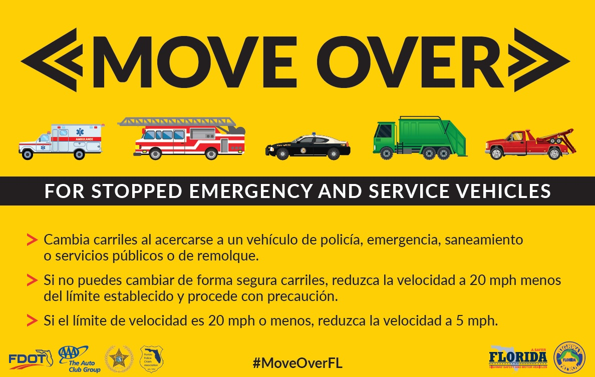 2017 Move Over Information - Spanish