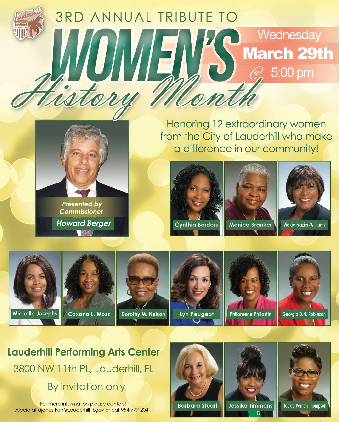 2017 Women's History Event Flyer - 3rd Annual