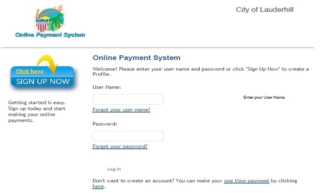 Bill2Pay Login Screen - Web Slideshow