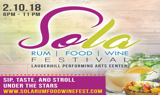2018 SOLA Rum, Food & Wine Festival Flyer - Web Slideshow