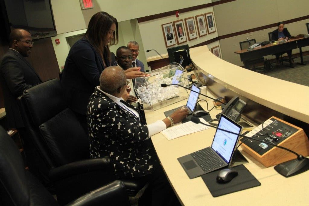 The Lauderhill City Commission doing the CRA Lottery Drawing