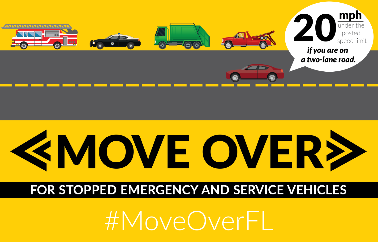 Move Over - Emergency & Service Vehicles