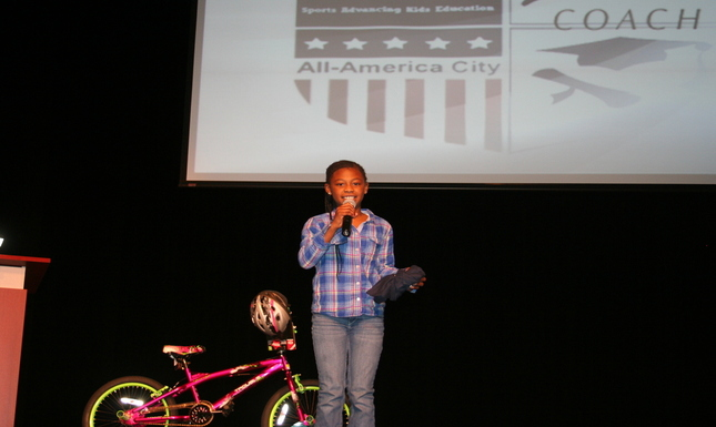 Child with Bike & Microphone