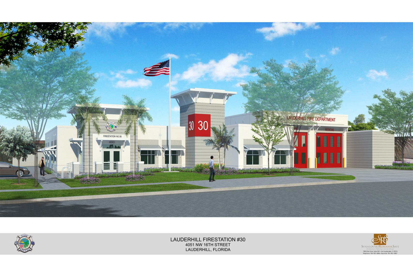 Rendering image of the proposed exterior of station 30.