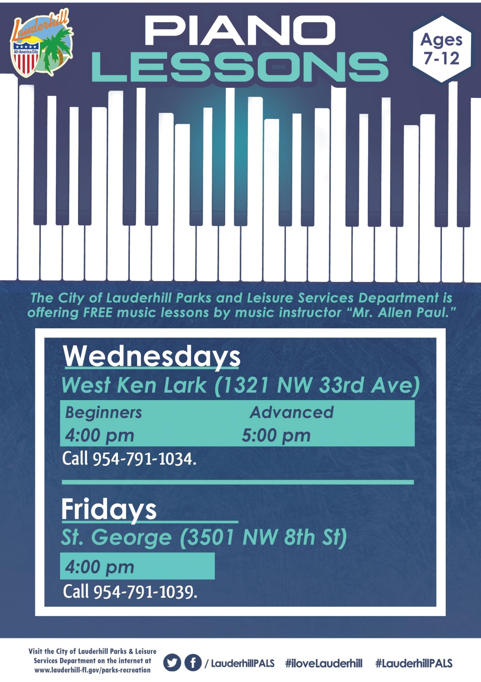 St. George & West Ken Lark Park Piano Lessons