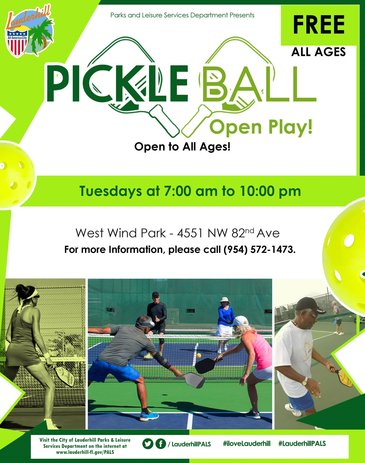 Pickleball Open Play Flyer