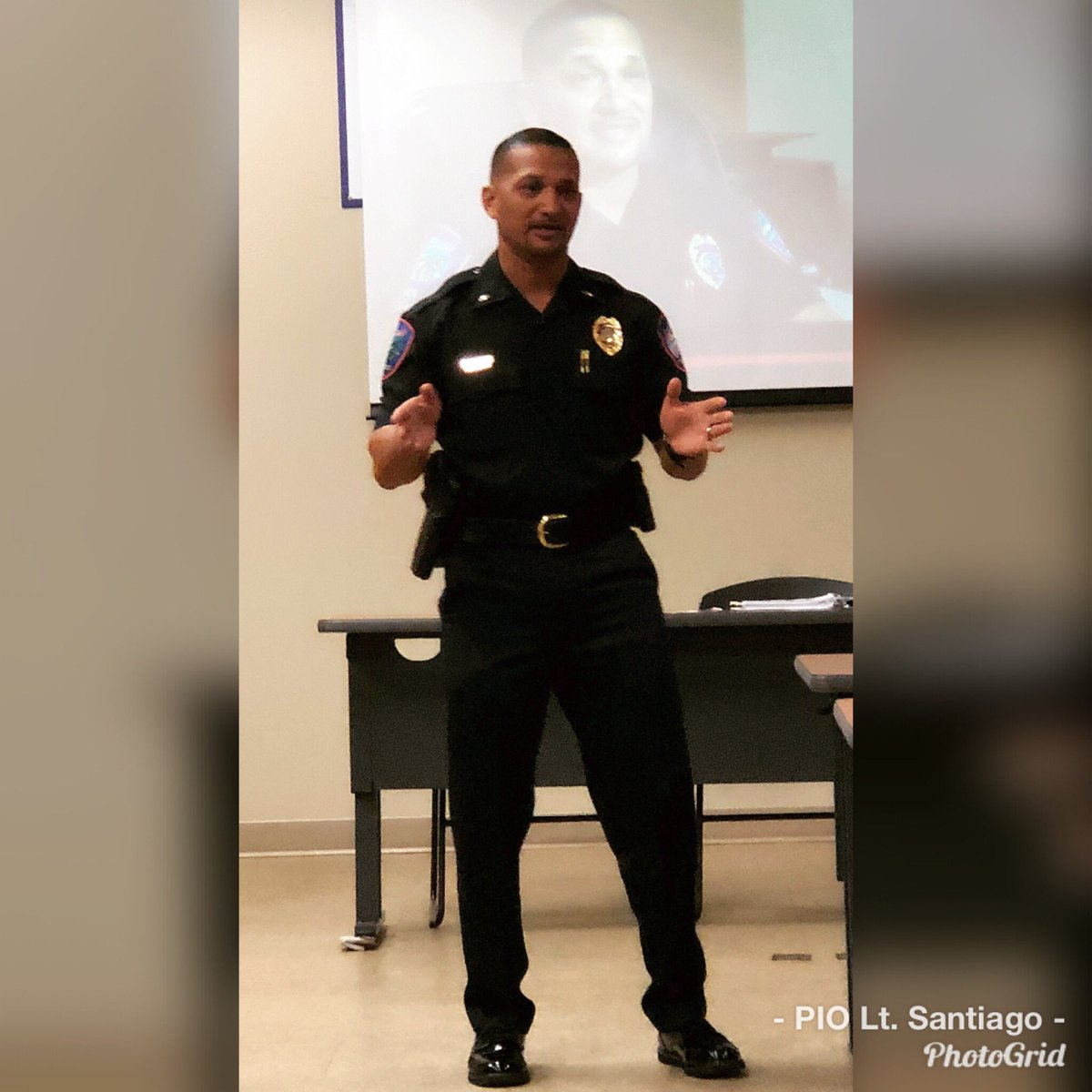 PIO Lt. Santiago speaking