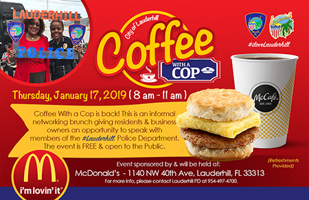 Coffee With A Cop Jan 2019
