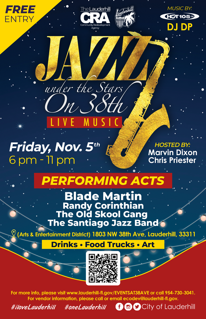 Jazz Under the Stars on 38th Avenue Flyer