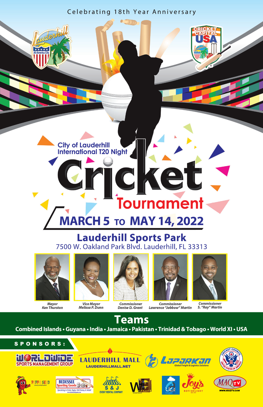 Night Cricket Flyer 2019 - Front
