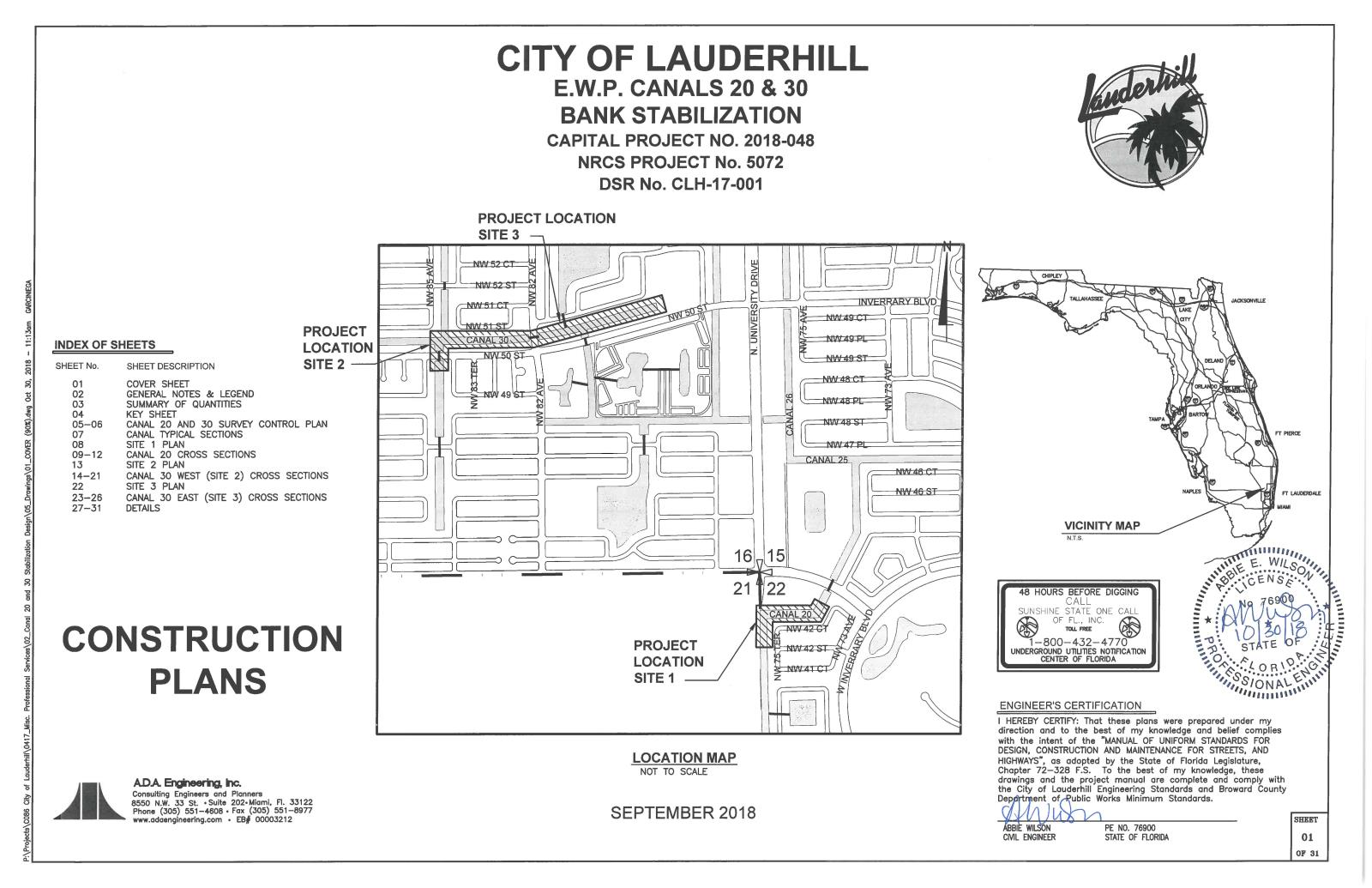 EWP Canals 20 & 30 Capital Improvement Project Location Map