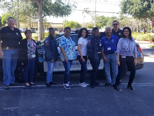 Group of LPD members wearing denim on Denim Day