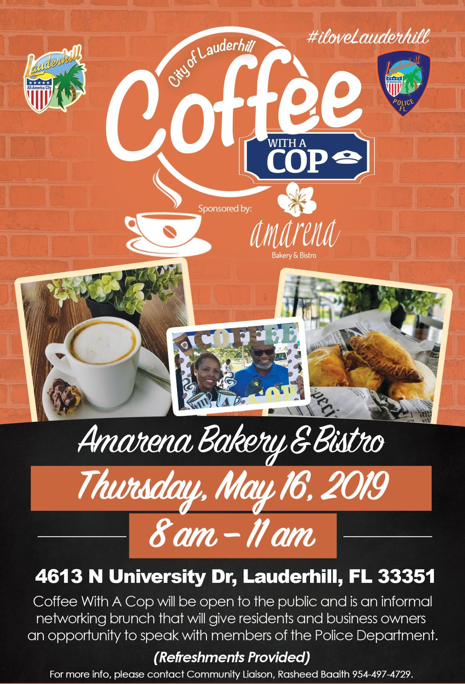 5-16-19 - Coffee With A Cop Event Flyer