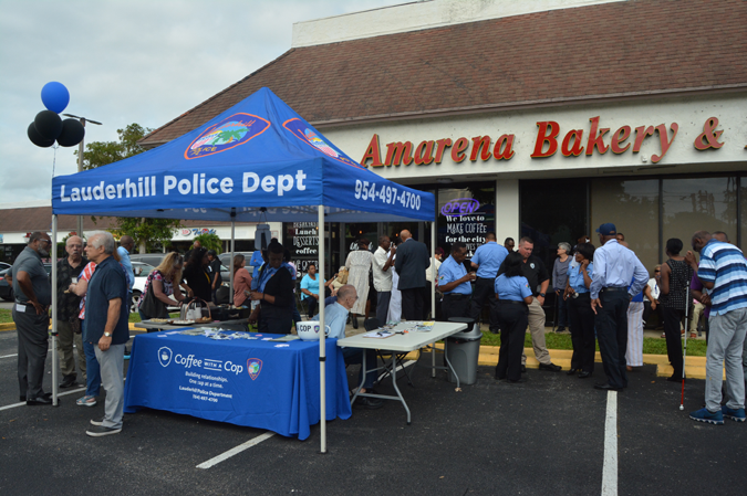 Lauderhill Police Department booth by Amarena Bakery & Bistro