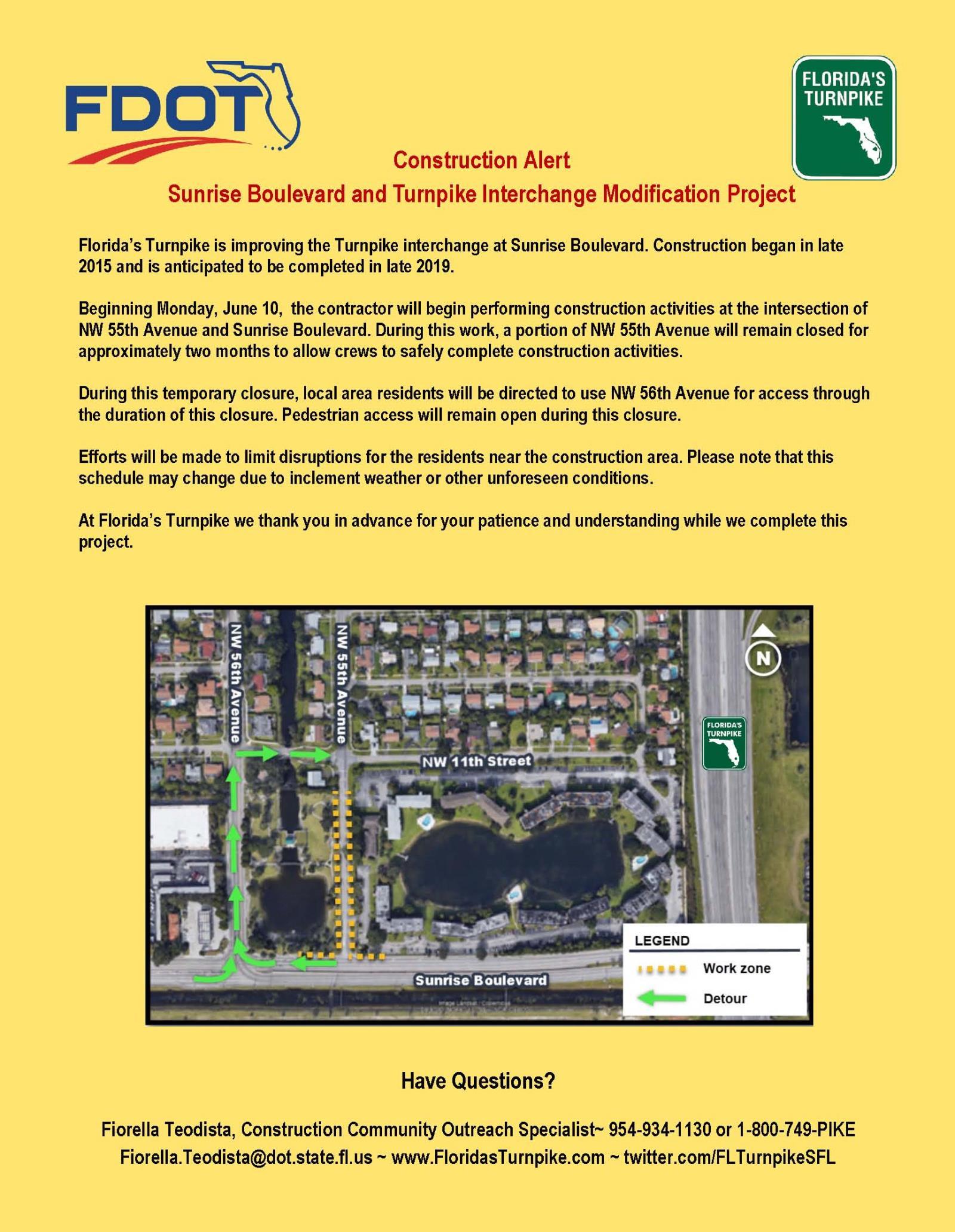 Construction Project Update: Sunrise Boulevard & 55th Avenue