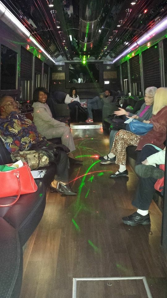 Patrons on party bus