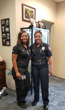 Det. Deniecia Smith and Chief Stanley