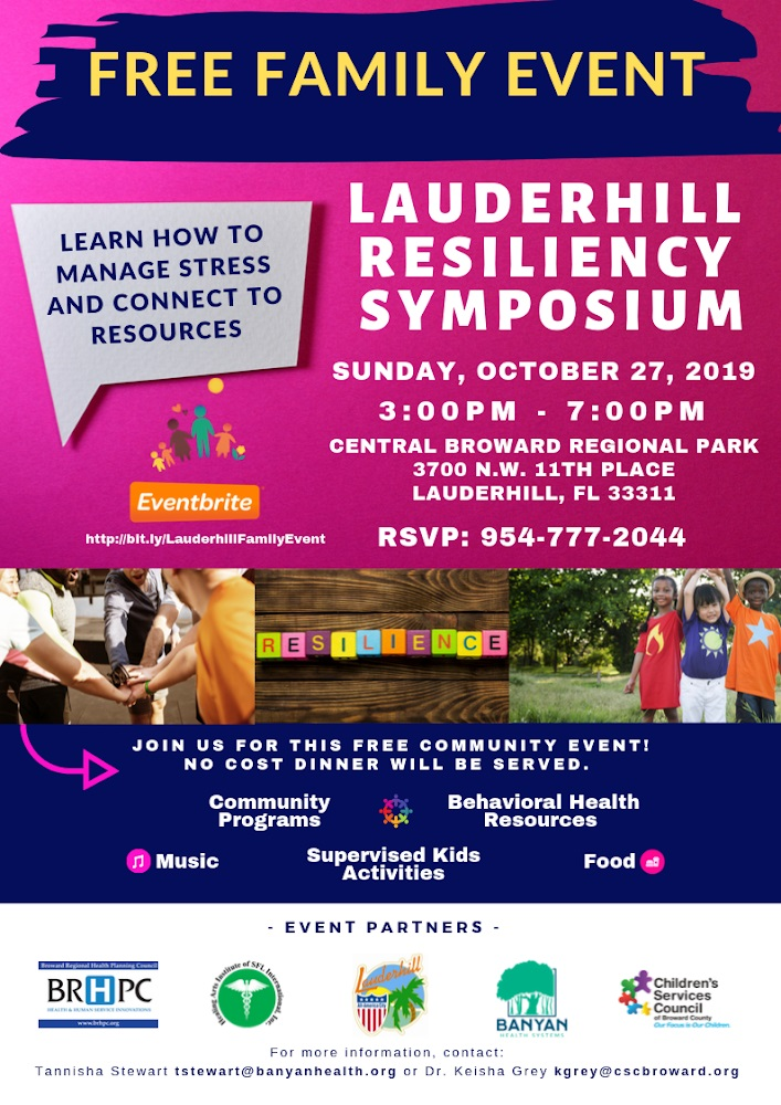 Lauderhill Resiliency Symposium Flyer