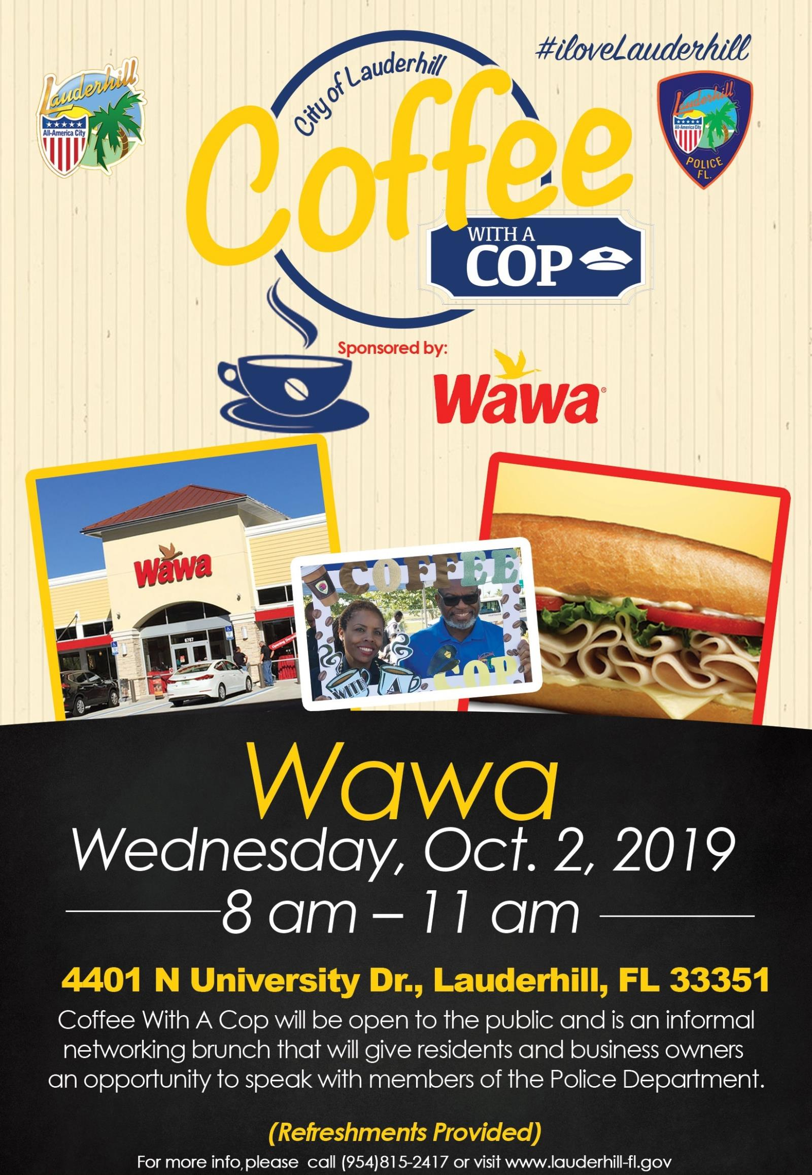 10-2-19 - Coffee With A Cop Event Flyer