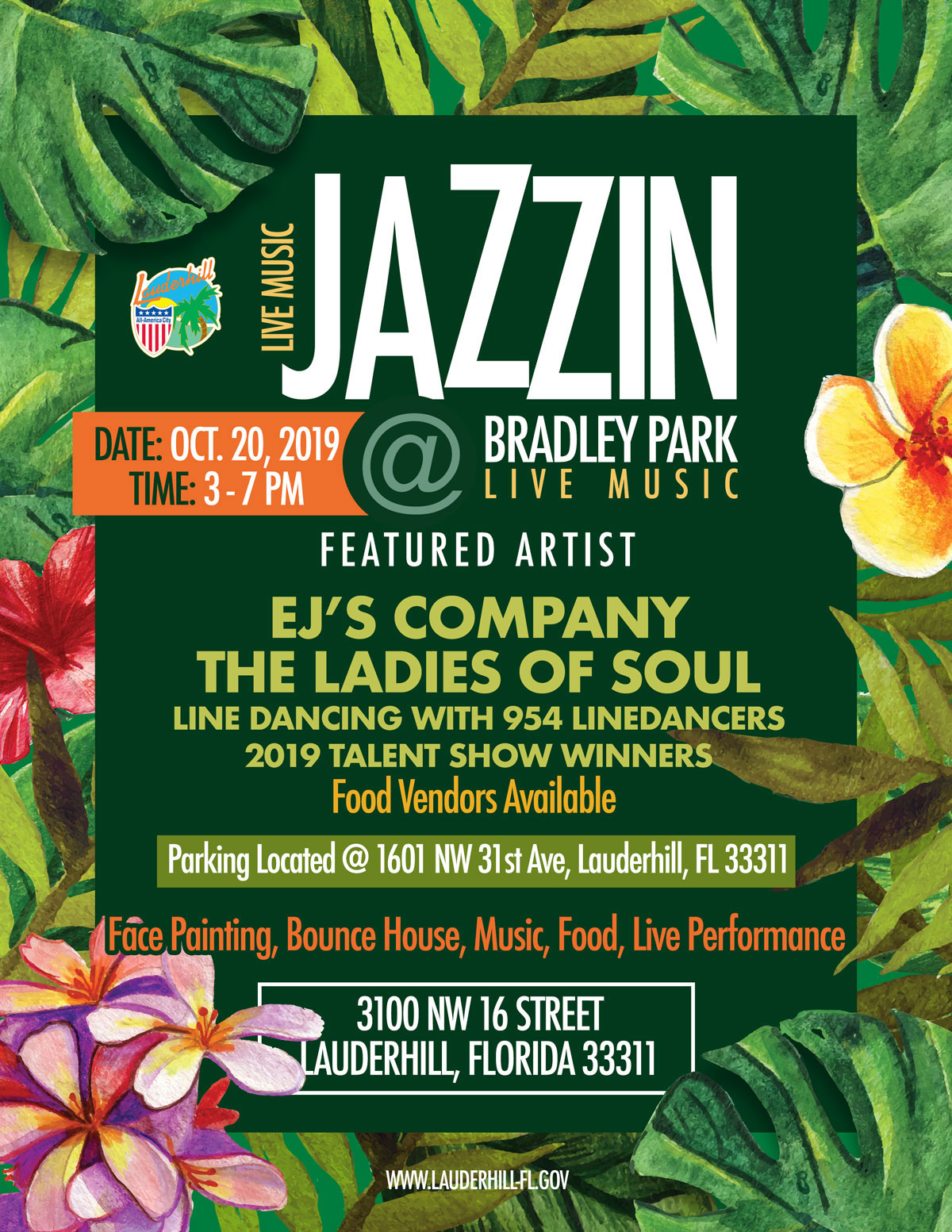 2019 Jazzin at Bradley Park - Flyer