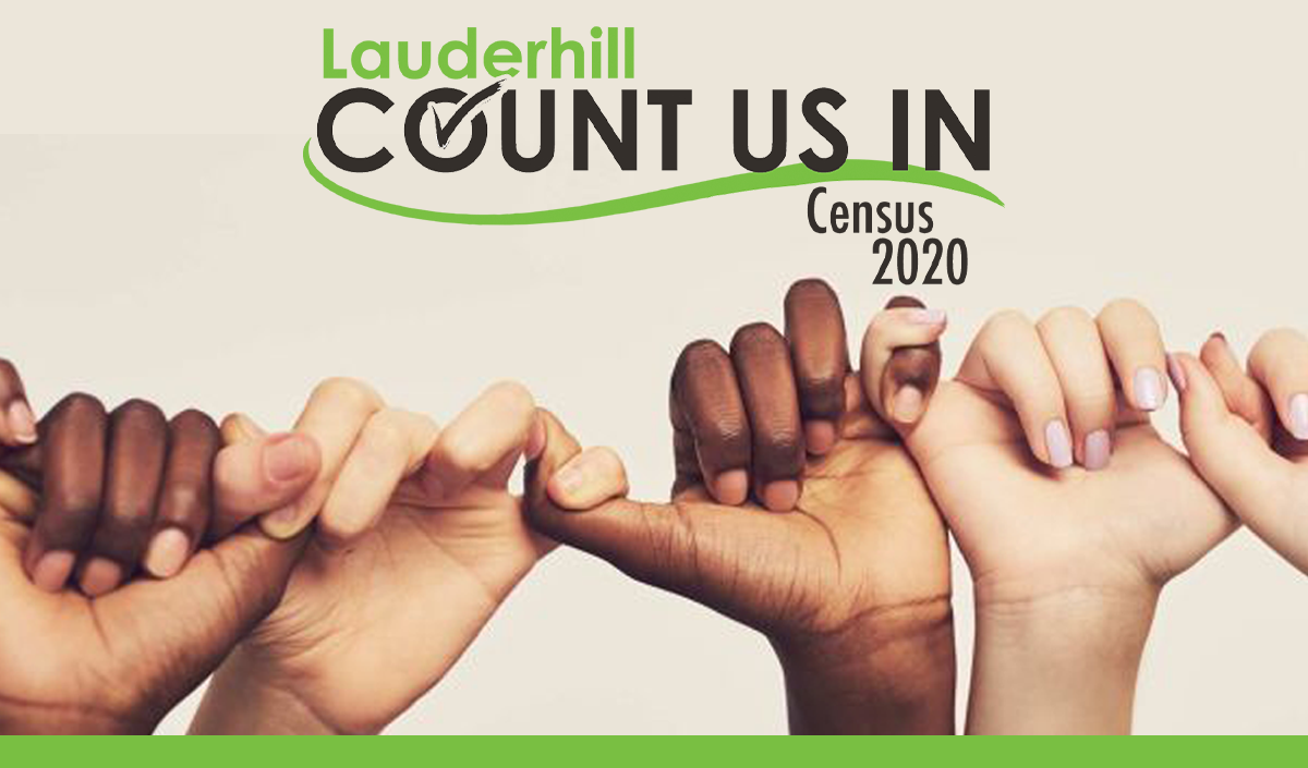 Lauderhill Count Us In Census 2020 with Interlocking Hands