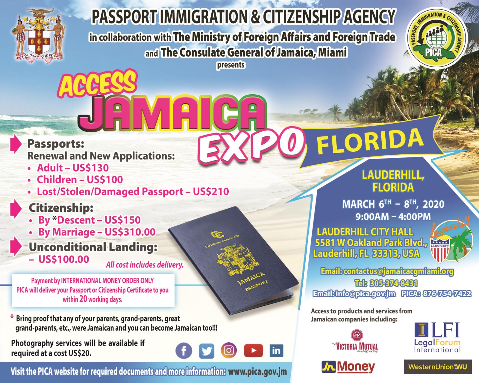 Access Jamaica Expo - 3-6-20 to 3-8-20