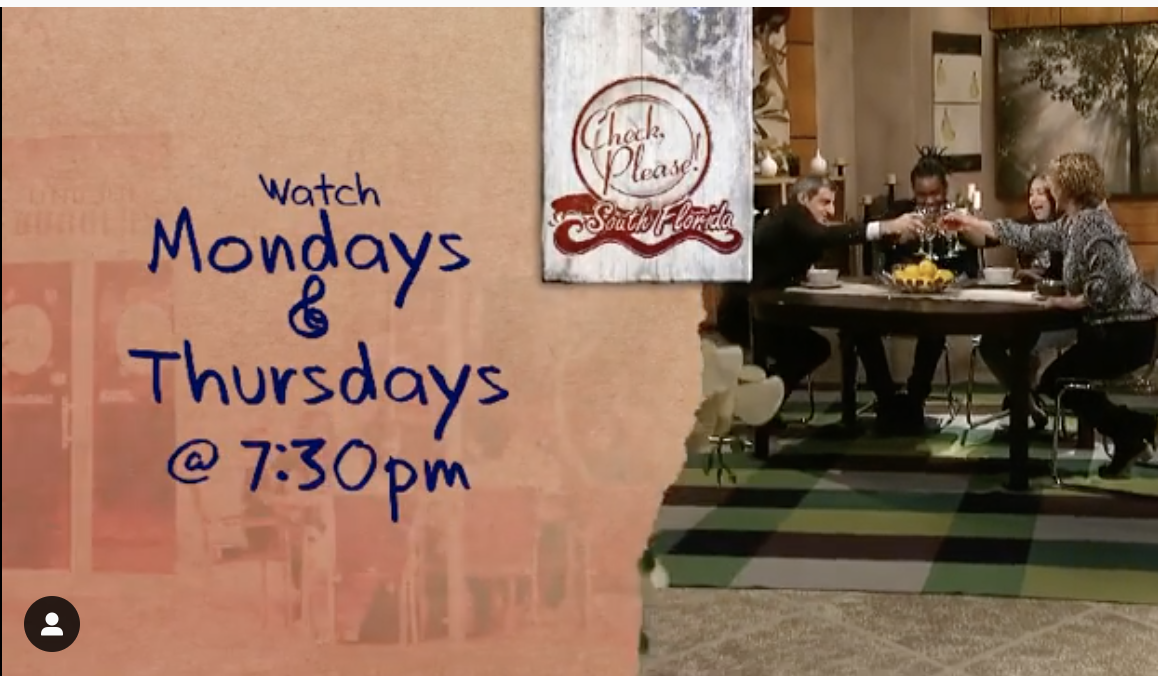 Check Please South Florida Mondays and Thursdays at 7:30 PM