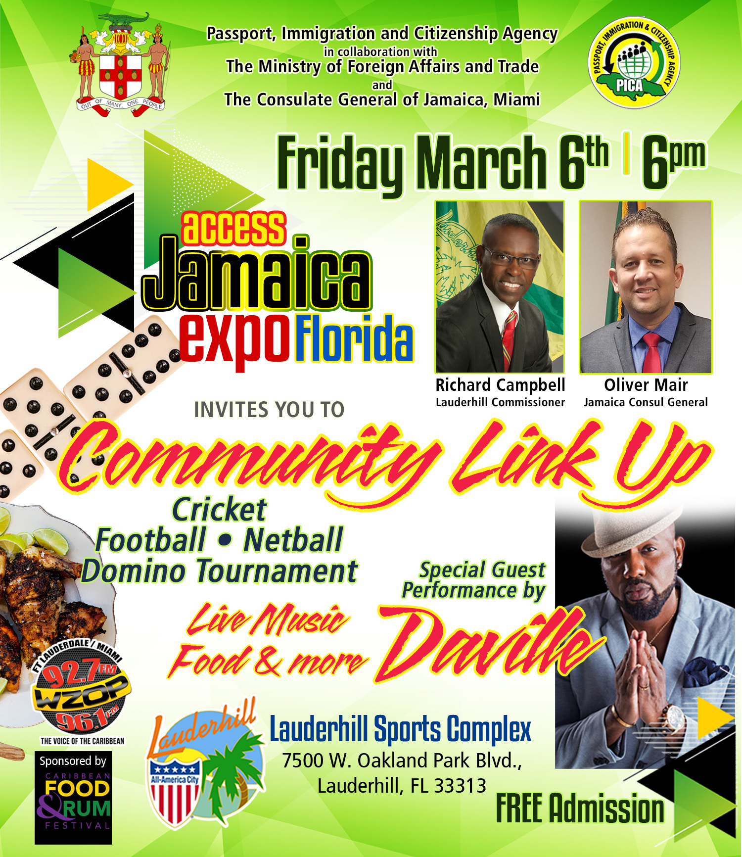 Access Jamaica Expo - Community Link Up Event at Sports Park - 3-6-20