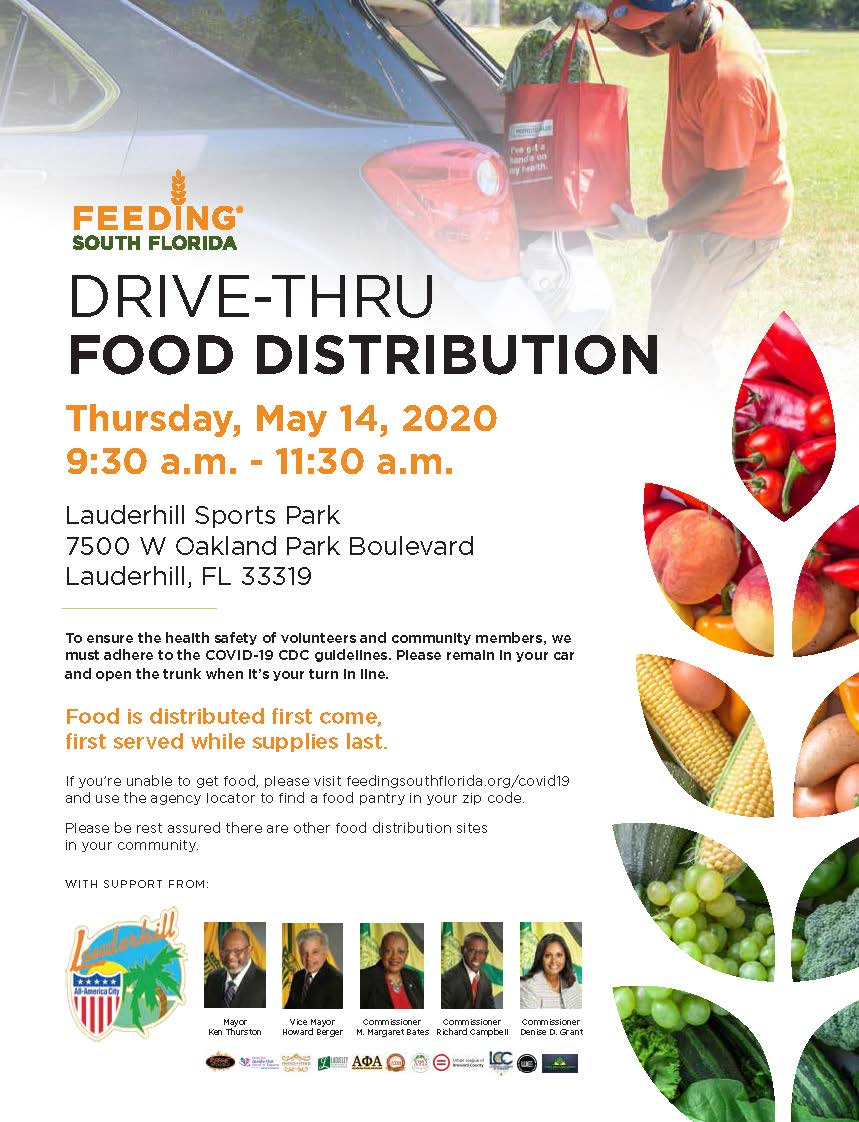 5-14-20 - COVID-19 Drive-Thru Food Distribution (FSF) - Event Flyer