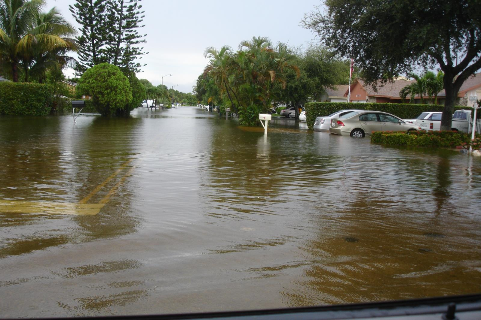 Recent flooding on NW 82 Avenue from Tropical Storm Isaac