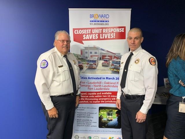 Lauderhill Fire Chief Celetti & Sunrise Fire Chief John McNamara at Closest Unit Response Event