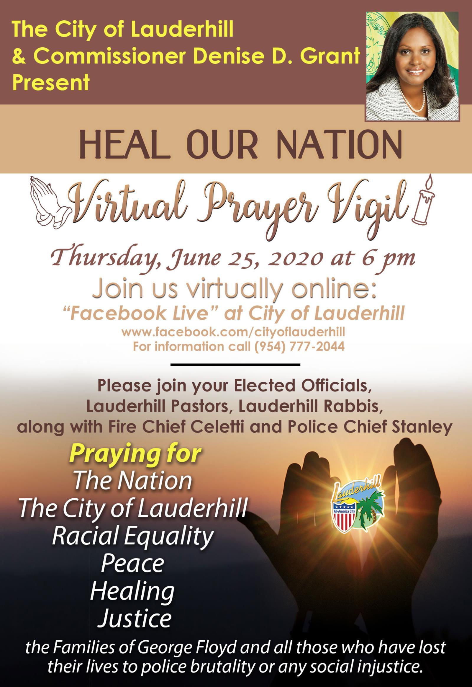6-25-20 - Heal Our Nation Virtual Prayer Vigil - Flyer