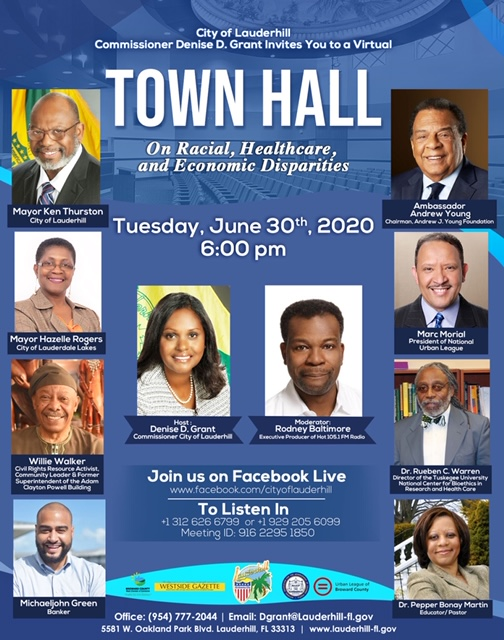 6-30-20 - Virtual Town Hall On Racial, Healthcare, and Economic Disparities