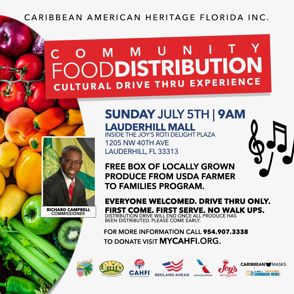 7-5-20 - COVID-19 Drive-Thru Food Distribution - Joy''s Roti Event Flyer