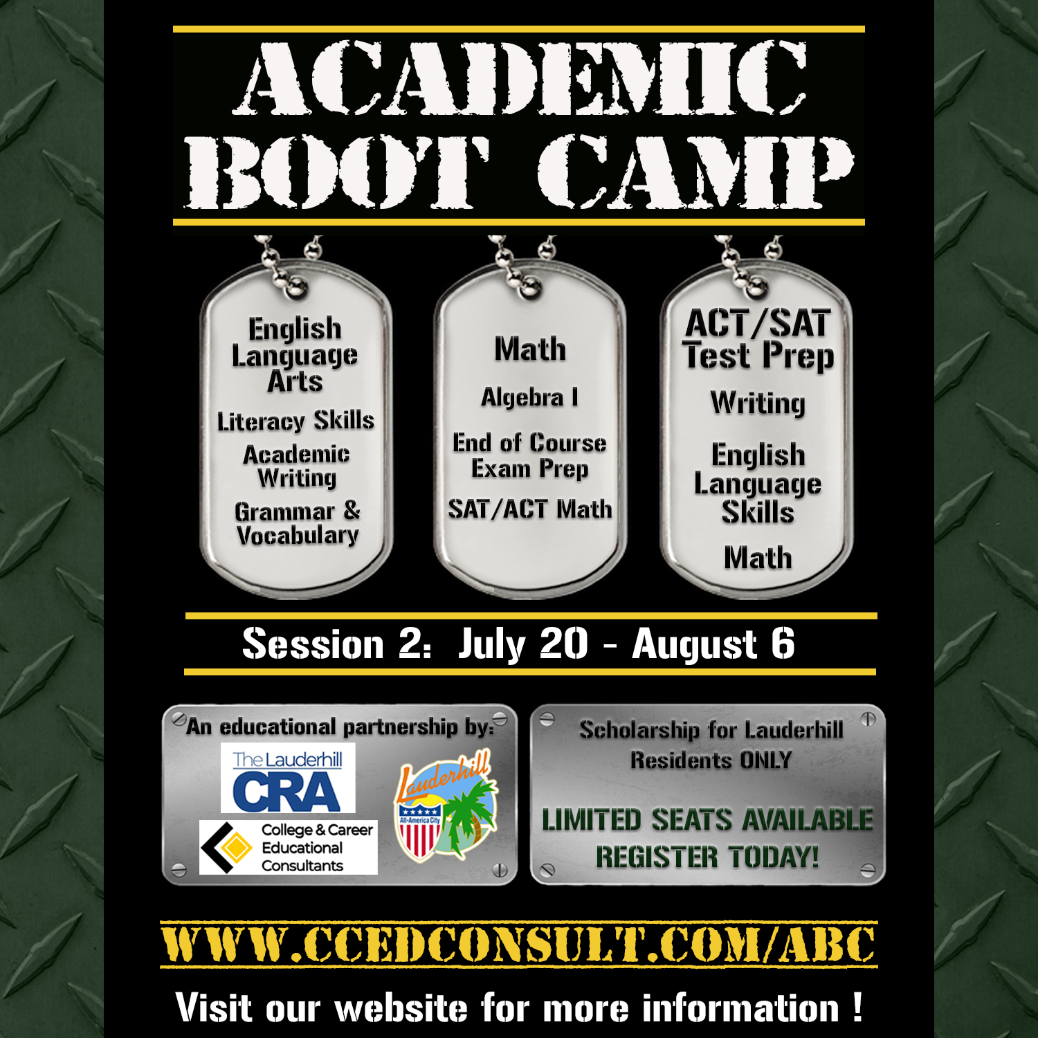 7-20-20 to 8-6-20 - Academic Boot Camp