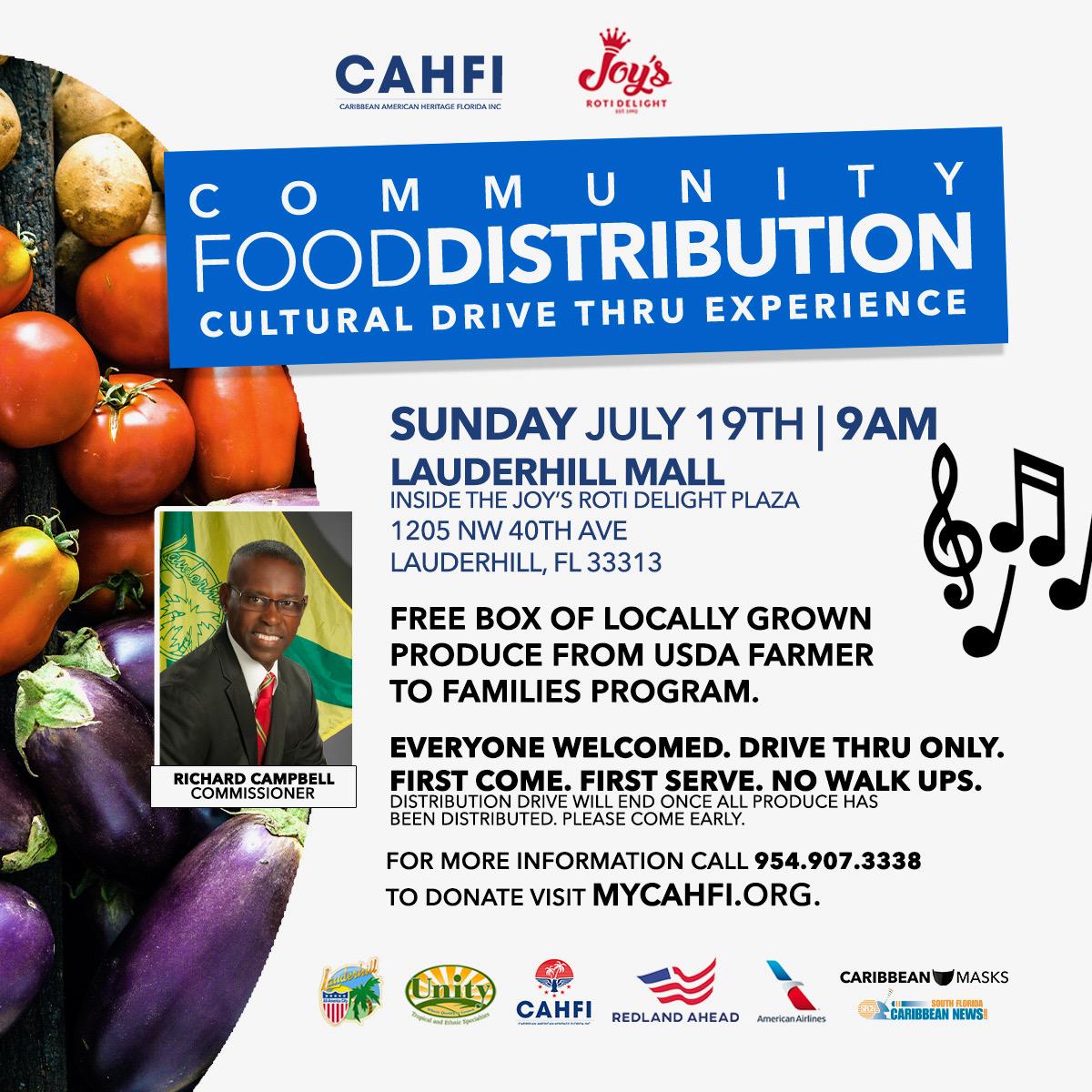 7-19-20 - COVID-19 Drive-Thru Food Distribution - Joy''s Roti Event Flyer