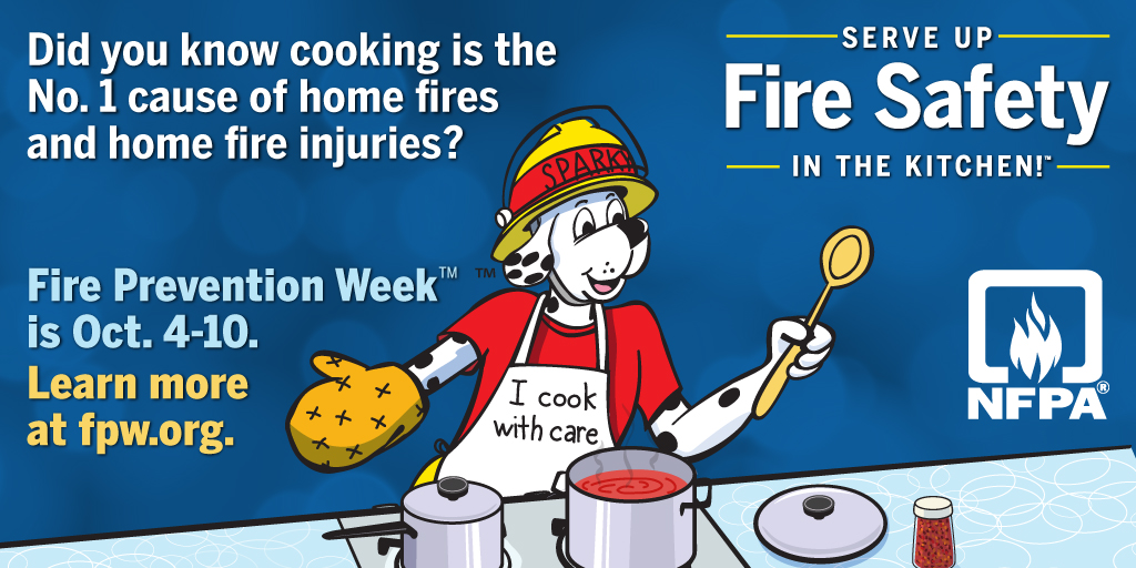 Fire Prevention Week - Serve Up Fire Safety In the Kitchen
