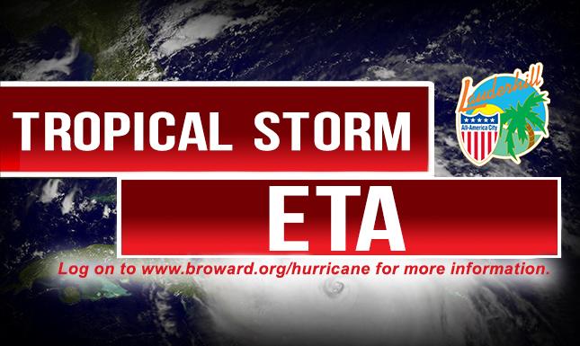 Tropical Storm Eta - Web Slider