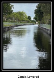 Canal with water lowered
