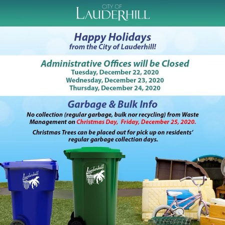 Lauderhill Holiday 2020 - No Garbage on Christmas